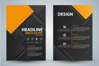 brochure design with modern black background