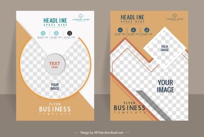 brochure flyer templates checkered geometry decor modern design
