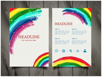 brochure flyer vector design with colorful decoration