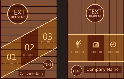 brochure template brown wooden backdrop number decor