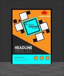 brochure template design geometric style