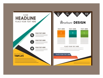 Brochure cover design templates modern style vectors stock for Modern brochure template