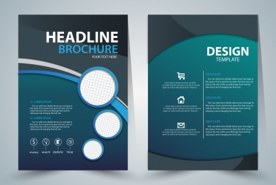 brochure template design with green elegant style