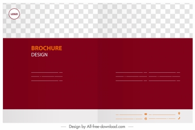 brochure template horizontal design red white checkered decor