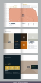 brochure template modern bright dark decor