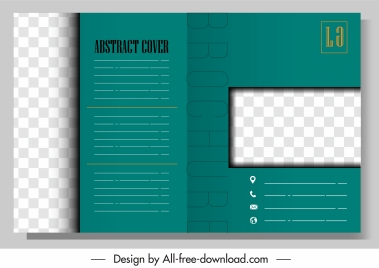 brochure template modern checkered plain decor