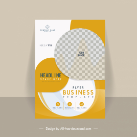 brochure template modern elegant checkered flat decor
