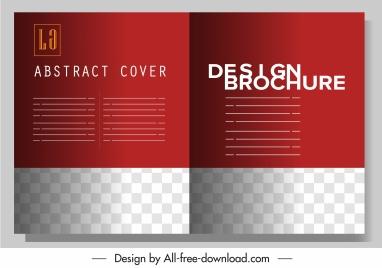 brochure template modern red plain checkered decor