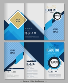 brochure templates bright abstract modern decor trifold shape