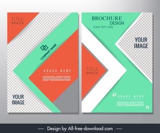 brochure templates modern checkered geometric layout