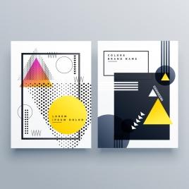 brochure templates modern geometric decor