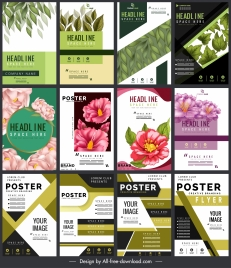 brochure templates nature abstract themes colorful modern design