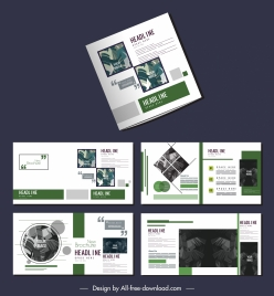 brochure templates simple modern layout leaves decor