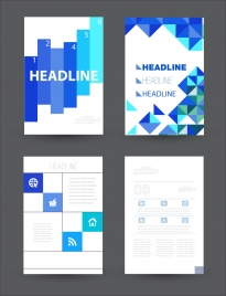 brochure vector design with bright background layout
