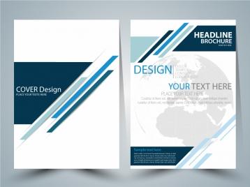 brochure vector design with globe vignette