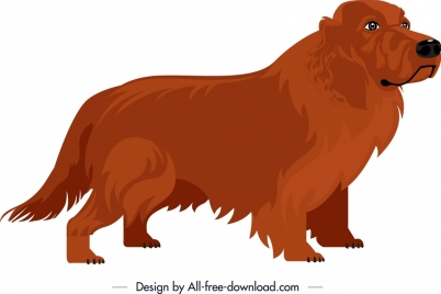 brown dog icon cute cartoon character