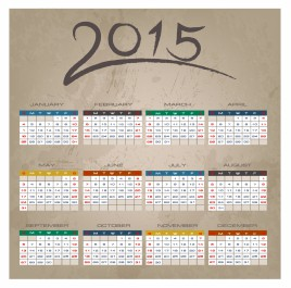 Brush Stroke 2015 Calendar
