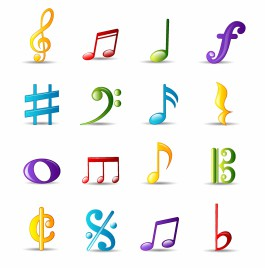 Bubble Icon Series   Musical Notes