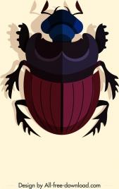 bug insect icon dark colored 3d design
