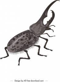 bug painting closeup grey design