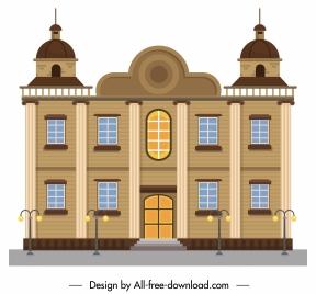 building facade template elegant european classic symmetric design