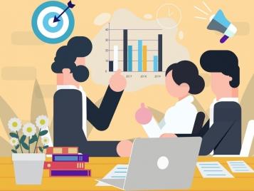 business background meeting staffs marketing design elements decor