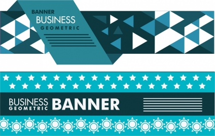 business banner design modern geometric style