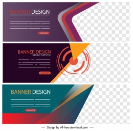 business banner templates colorful modern technology design