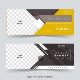 business banner templates modern elegant checkered horizontal design