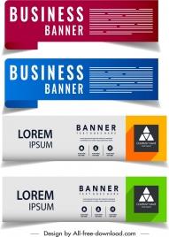 business banner templates modern horizontal design