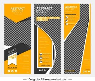 business banner templates vertical checkered design