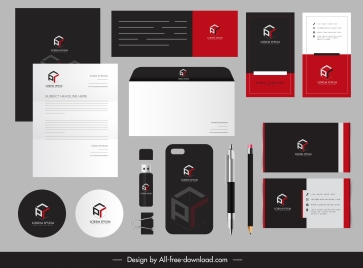 business branding identity sets cubic logotype contrast design