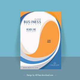 business brochure cover template modern dynamic curves decor