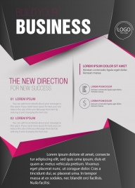 business brochure design with 3d style