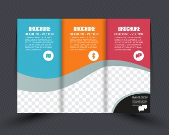 business brochure design with checkered trifold style