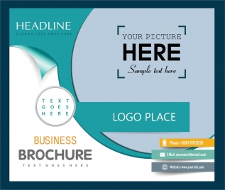 business brochure template bright green white modern design