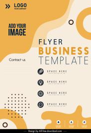 business brochure template flat curves circles decor