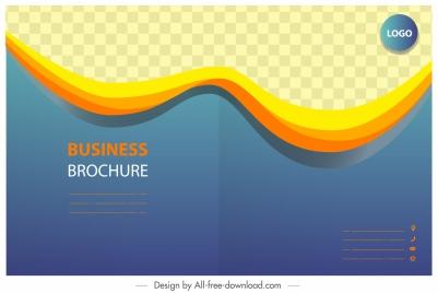 business brochure template modern checkered dynamic curves decor