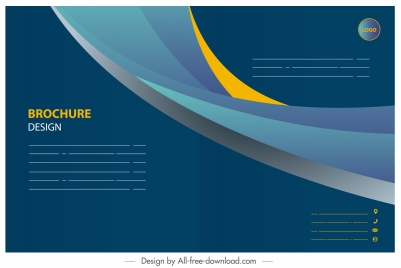 business brochure template modern elegant dynamic decor
