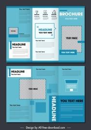 business brochure template trifold shape modern decor