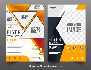 business brochure templates elegant modern checkered geometric decor