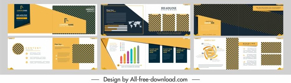 business brochure templates horizontal design elegant colorful modern