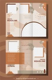 business brochure templates modern abstract grunge trifold decor