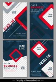 business brochure templates modern contrast geometric checkered decor