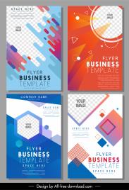 business brochure templates modern dynamic geometric checkered decor