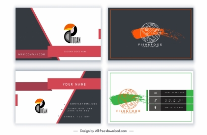 business card template animal logotype decor flat sketch