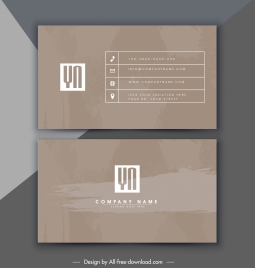 business card template classic brown monochrome grunge decor