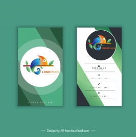 business card template colorful modern elegant gecko sketch