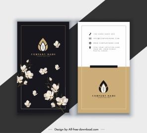business card template elegant dark bright botany decor