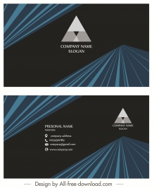 business card template elegant dark modern 3d decor